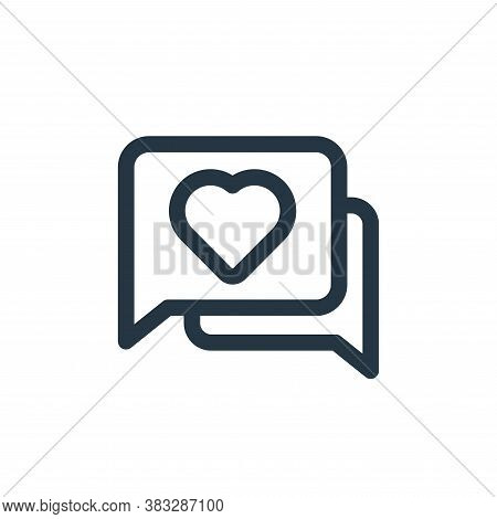 chat icon isolated on white background from valentine collection. chat icon trendy and modern chat s