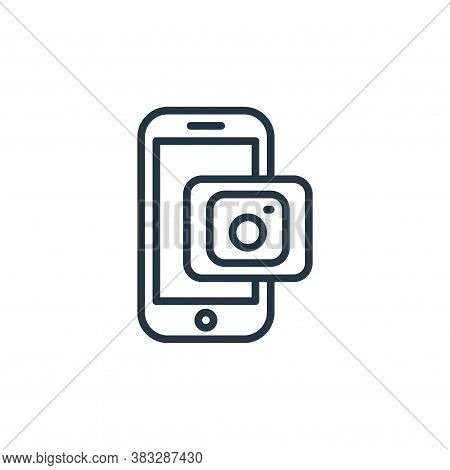 instagram icon isolated on white background from social media collection. instagram icon trendy and