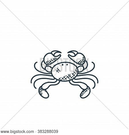 crabs icon isolated on white background from food collection. crabs icon trendy and modern crabs sym