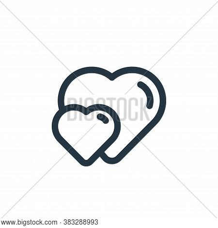 double icon isolated on white background from valentine collection. double icon trendy and modern do