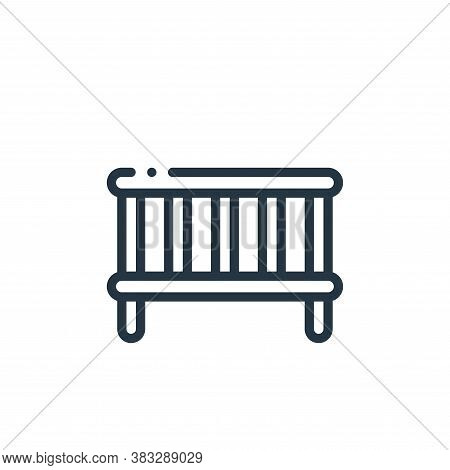 crib icon isolated on white background from furniture collection. crib icon trendy and modern crib s