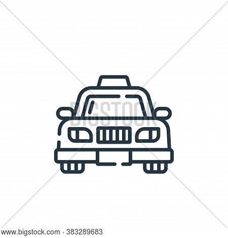 taxi icon isolated on white background from public services collection. taxi icon trendy and modern
