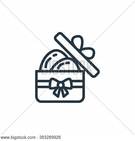 gift box icon isolated on white background from easter collection. gift box icon trendy and modern g