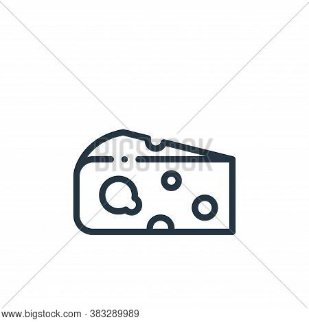 cheese icon isolated on white background from nutrition collection. cheese icon trendy and modern ch