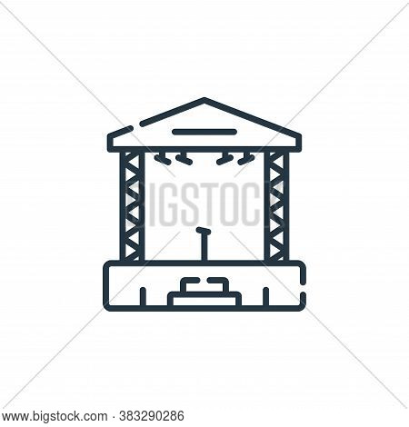 stage icon isolated on white background from event collection. stage icon trendy and modern stage sy