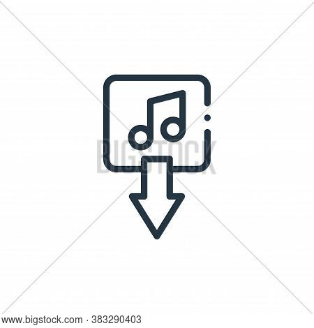 download icon isolated on white background from music collection. download icon trendy and modern do