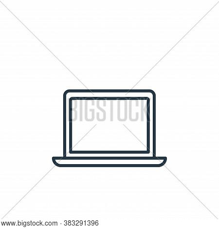 laptop icon isolated on white background from communication collection. laptop icon trendy and moder