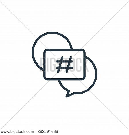 hashtags icon isolated on white background from social media collection. hashtags icon trendy and mo