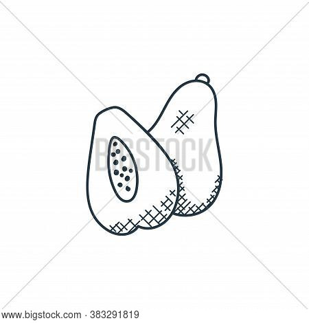 avocado icon isolated on white background from food collection. avocado icon trendy and modern avoca