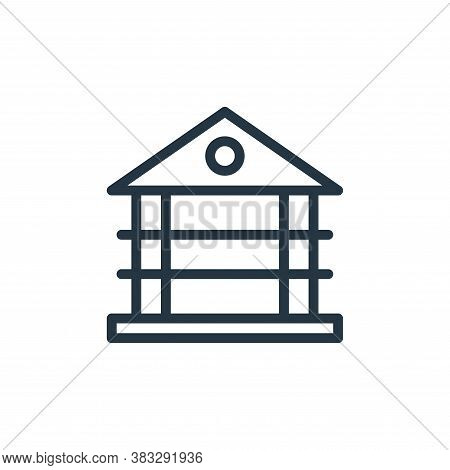 gazebo icon isolated on white background from water park collection. gazebo icon trendy and modern g