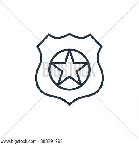 police badge icon isolated on white background from law collection. police badge icon trendy and mod