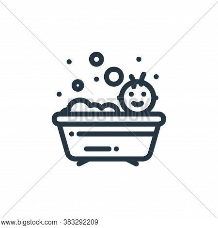 bathing icon isolated on white background from baby shower collection. bathing icon trendy and moder