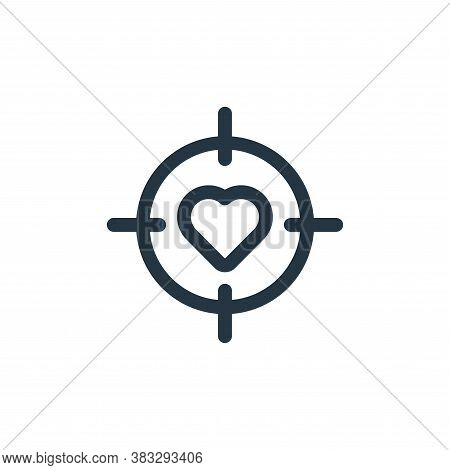 targeting icon isolated on white background from valentine collection. targeting icon trendy and mod