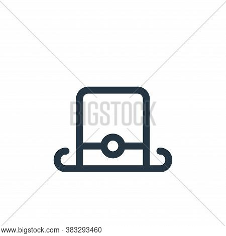 top hat icon isolated on white background from voting elections collection. top hat icon trendy and