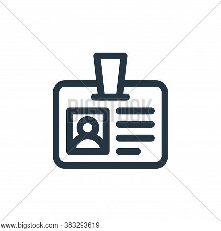 id card icon isolated on white background from customer service collection. id card icon trendy and