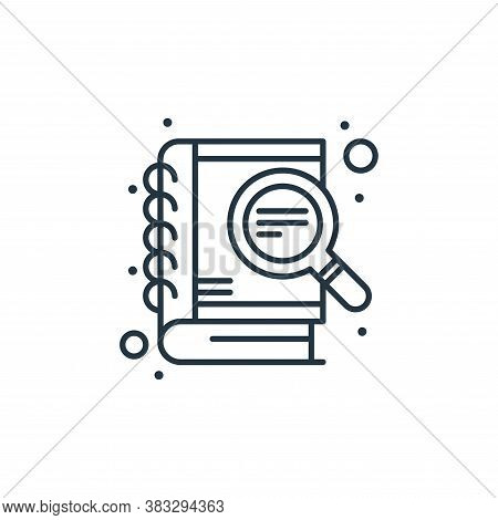 study icon isolated on white background from seo collection. study icon trendy and modern study symb