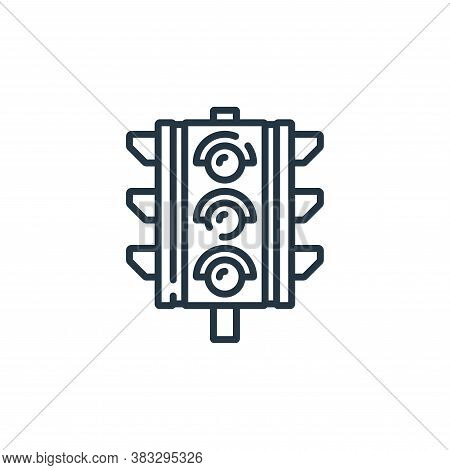 traffic lights icon isolated on white background from public services collection. traffic lights ico