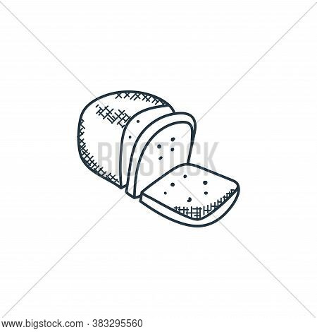 bread icon isolated on white background from food collection. bread icon trendy and modern bread sym