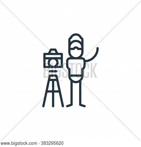 photographer icon isolated on white background from graphic design collection. photographer icon tre