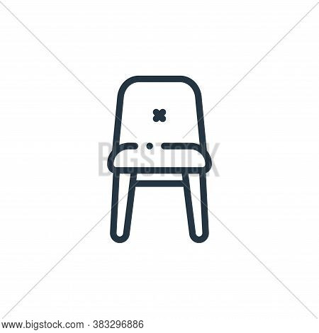 chair icon isolated on white background from furniture collection. chair icon trendy and modern chai
