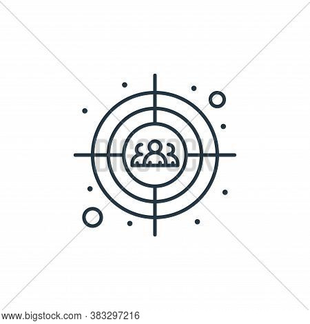 target icon isolated on white background from seo collection. target icon trendy and modern target s