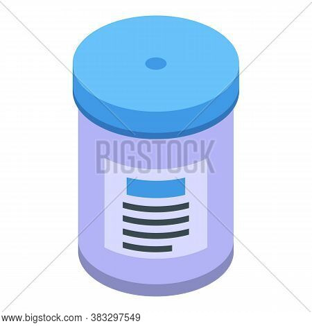 Antibacterial Jar Icon. Isometric Of Antibacterial Jar Vector Icon For Web Design Isolated On White