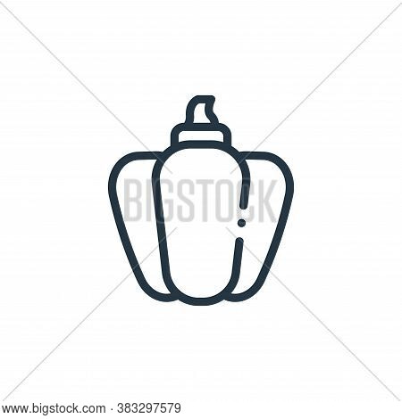 Bell pepper icon isolated on white background from nutrition collection. Bell pepper icon trendy and