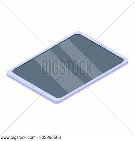 Digital Detoxing Tablet Icon. Isometric Of Digital Detoxing Tablet Vector Icon For Web Design Isolat