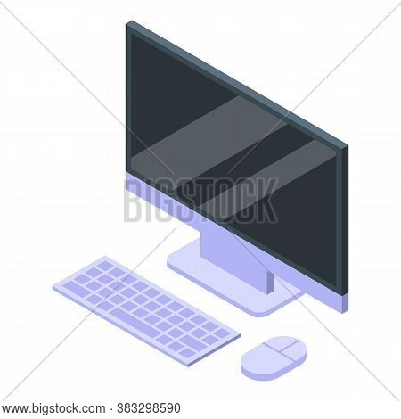 Digital Detoxing Home Computer Icon. Isometric Of Digital Detoxing Home Computer Vector Icon For Web