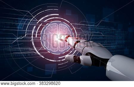 3d Rendering Artificial Intelligence Ai Research Of Robot And Cyborg Development For Future Of Peopl