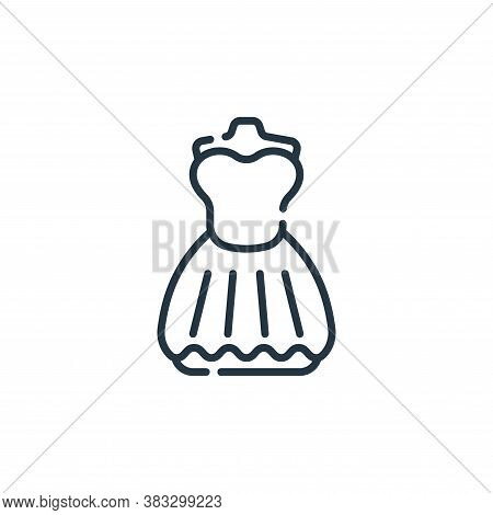 dress icon isolated on white background from event collection. dress icon trendy and modern dress sy
