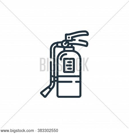 fire extinguisher icon isolated on white background from public services collection. fire extinguish