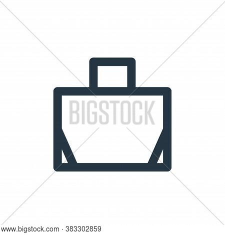 handbag icon isolated on white background from sign symbol collection. handbag icon trendy and moder