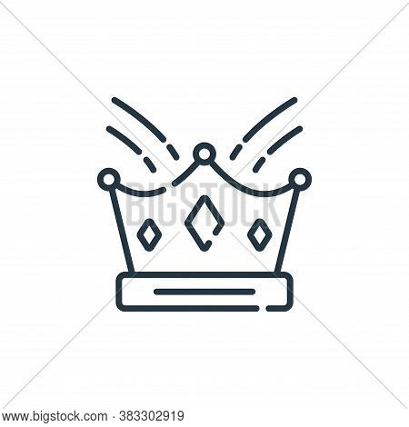 crown icon isolated on white background from event collection. crown icon trendy and modern crown sy
