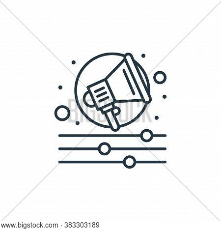 campaign icon isolated on white background from seo collection. campaign icon trendy and modern camp