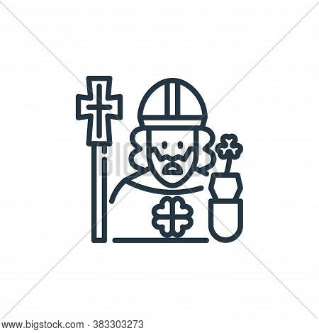 Saint Patrick icon isolated on white background from st patrick day collection. Saint Patrick icon t