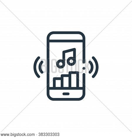 music app icon isolated on white background from music collection. music app icon trendy and modern
