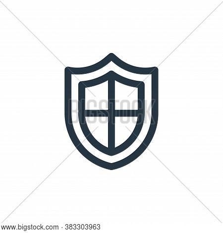 shield icon isolated on white background from customer service collection. shield icon trendy and mo