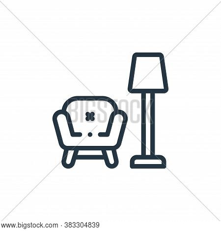 armchair icon isolated on white background from furniture collection. armchair icon trendy and moder