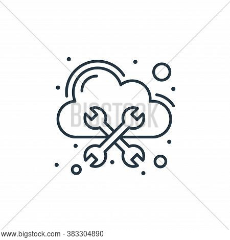 cloud icon isolated on white background from web hosting collection. cloud icon trendy and modern cl