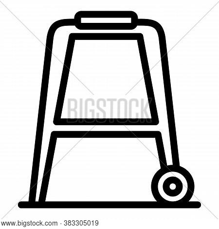 Steel Walker Icon. Outline Steel Walker Vector Icon For Web Design Isolated On White Background