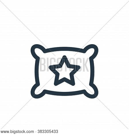 pillow icon isolated on white background from baby shower collection. pillow icon trendy and modern