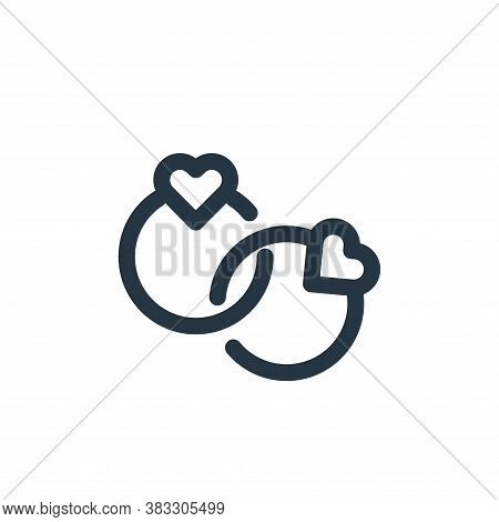 rings icon isolated on white background from valentines day collection. rings icon trendy and modern