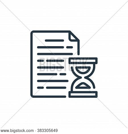 deadline icon isolated on white background from business collection. deadline icon trendy and modern
