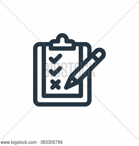 clipboard icon isolated on white background from customer service collection. clipboard icon trendy