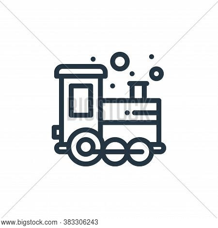 train icon isolated on white background from baby shower collection. train icon trendy and modern tr