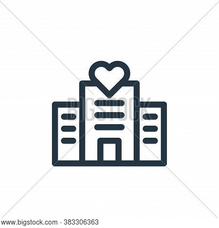 hotel icon isolated on white background from valentines day collection. hotel icon trendy and modern