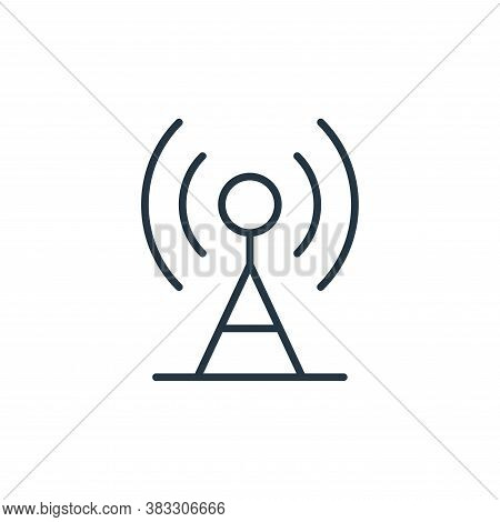 antenna icon isolated on white background from communication collection. antenna icon trendy and mod