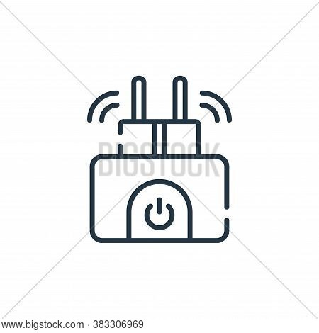 smart plug icon isolated on white background from smarthome collection. smart plug icon trendy and m