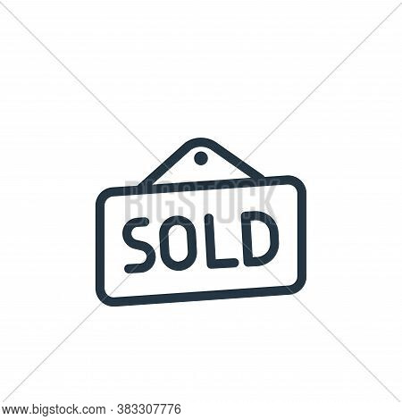 sold icon isolated on white background from ecommerce line collection. sold icon trendy and modern s